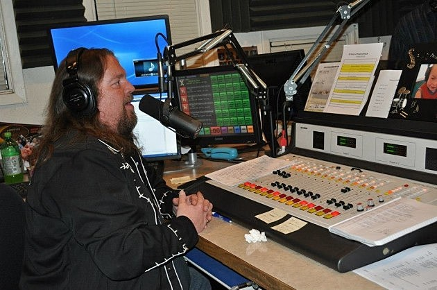 Brian Gary on the air during 28 Hours of Hope