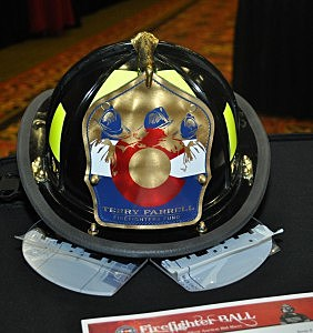 Terry Farrell Firefighters Fund Helmet - Silent Auction Item for Firefighter's Ball