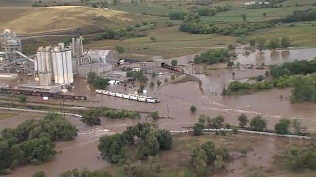 Aerial Colorado Flood