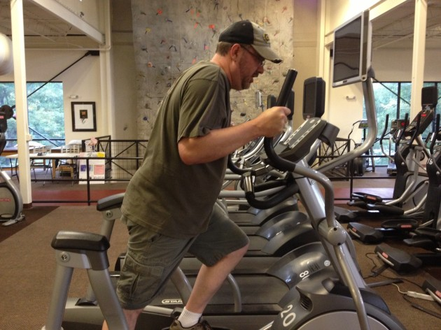 Todd using Elliptical Trainer