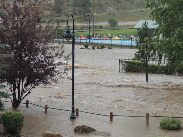 Flooding in Estes Park