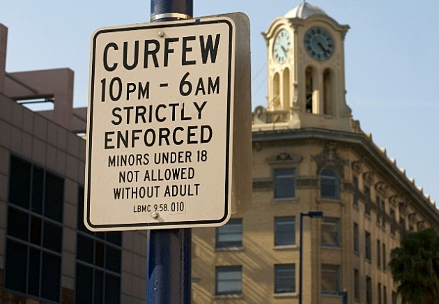 Curfew Sign