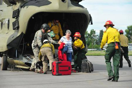 Flood Evacuees rescued by Colorado National Guard