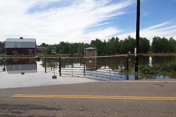 Flooding of the Poudre River Trail in Greeley
