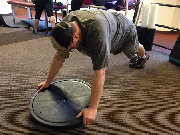 Todd doing Bosu Ball Pushups