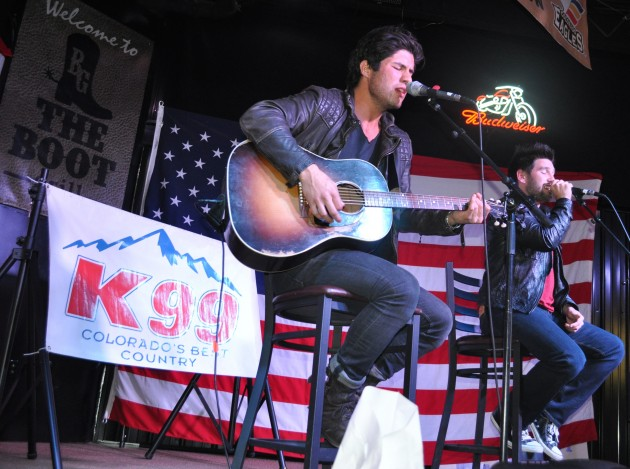 Dan + Shay Performing at the Boot Grill for K99's New From Nashville Series
