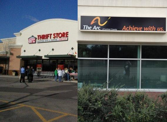 Arc Thrift Store in Loveland and The Arc of Larimer County in Fort Collins