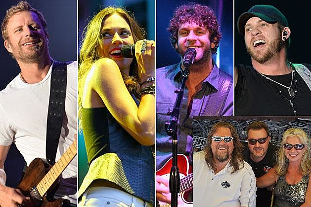 Jana Kramer, Dierks Bentley, Brantley Gilber, Billy Currington and The Good Morning Guys