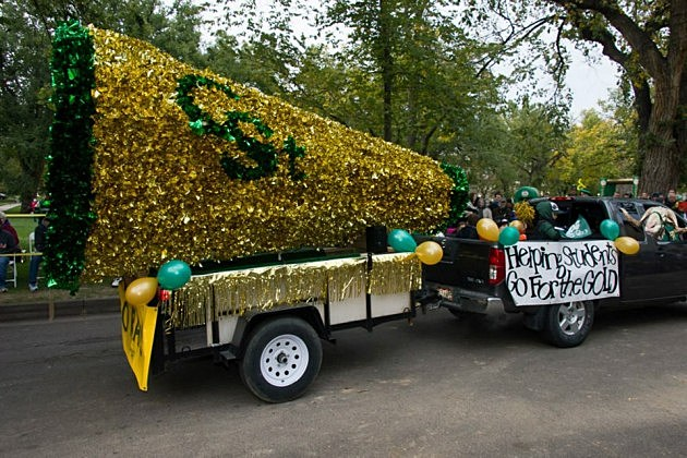 Float in CSU Homecoming Parade 2012