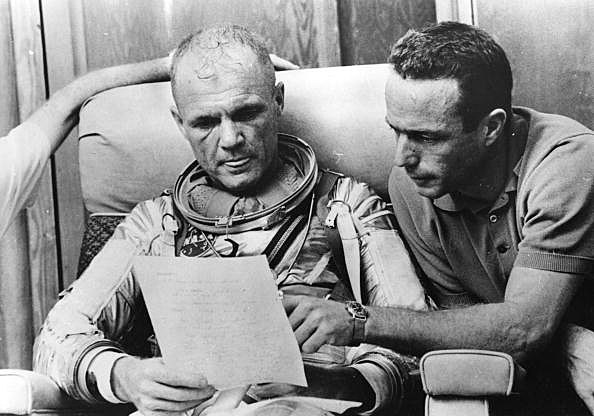 John Glenn and Scott Carpenter