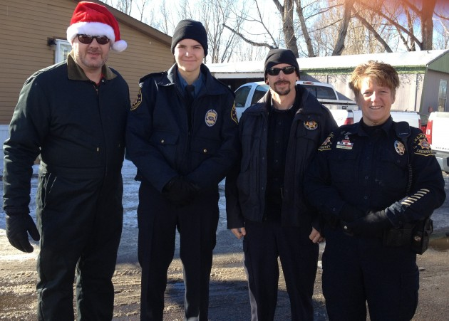 mer County Sheriff's Posse members Delivering toys for Santa Cops
