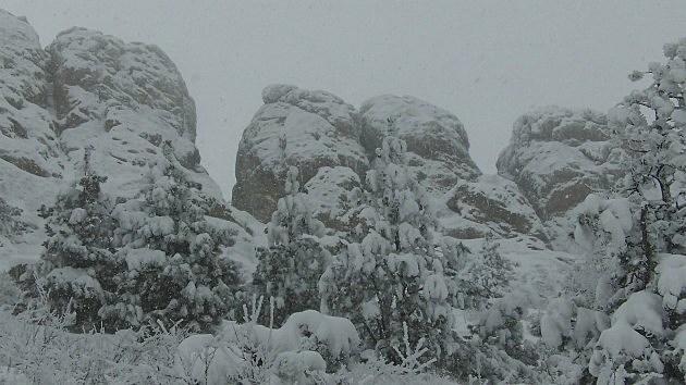 Snow on Horsetooth