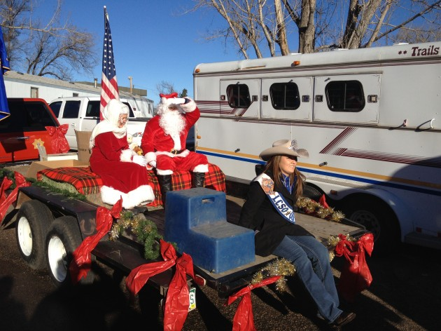 Santa & Mrs. Claus with Larimer County Sheriff's Posse Queen