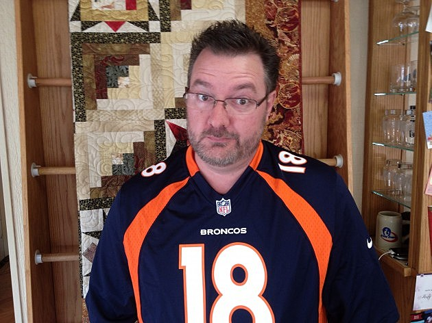 Todd Harding in his Peyton Manning jersey