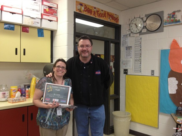 Mrs Cronin Letford Elementary in Johnstown with Todd Harding