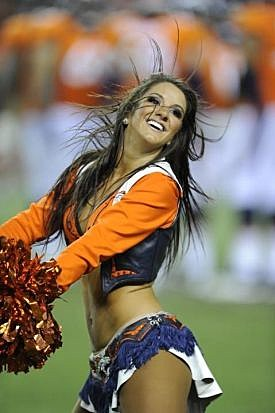 Broncos Cheerleader Angela Wood