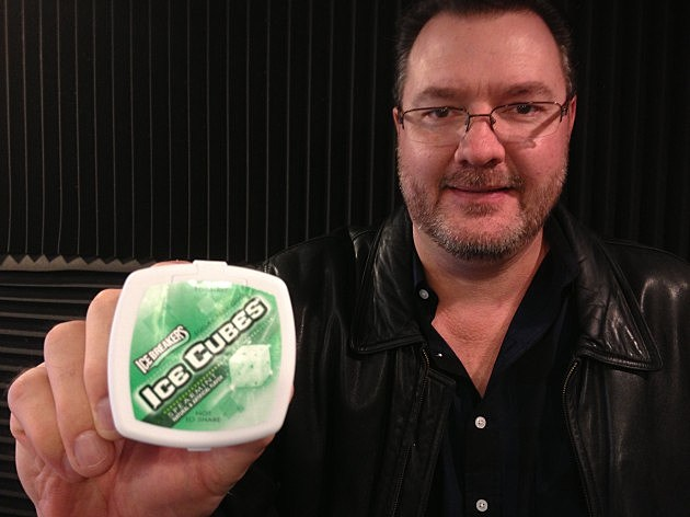 Todd with Icebreakers Ice Cubes