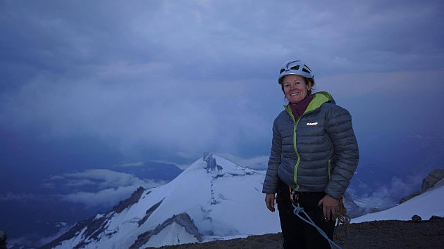 Heather Leja at Mt Baker Summit