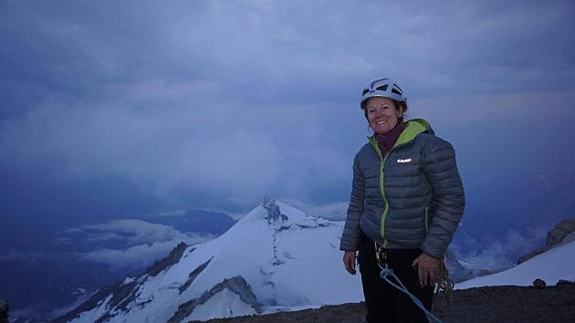 Heather Leja at Mt Baker Summit