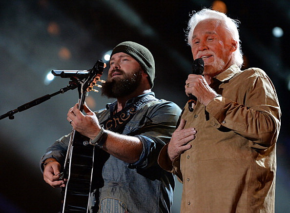 Zac Brown and Kenny Rogers at 2013 CMA Music Festival