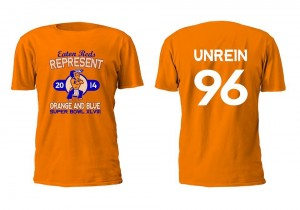 This is the T-shirt everyone was wearing for the Mitch Unrein Pep Rally at Eaton High School