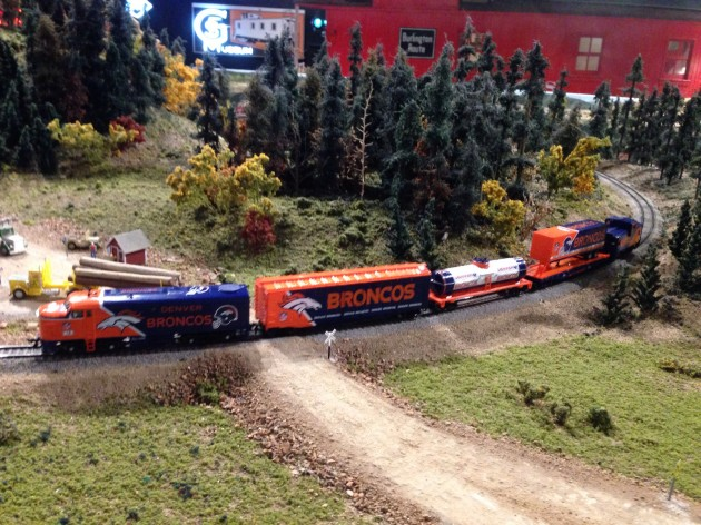 Broncos Train at the Colorado Model Railroad at the Greeley Freight Station Museum