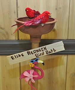 Redneck Birdbath in Silent Auction