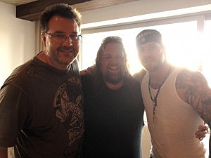 Todd, Brian, and Brantley Gilbert at Boots in the sand - Sorry About the back lighting