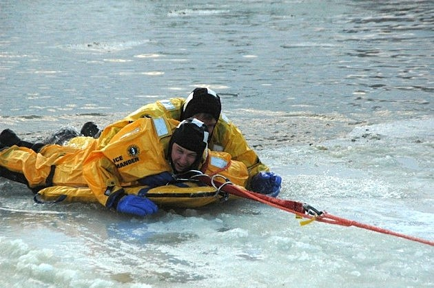 Larimer County Dive Rescue Ice Rescue Training