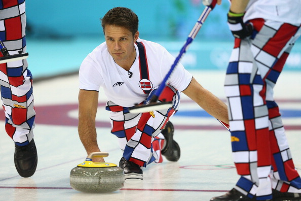 Thomas Ulsrud of Norway - Curling - Winter Olympics Day 3