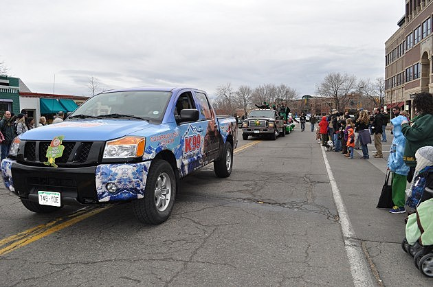 Here comes our entry in the Ft Collins St Patrick's Day Parade
