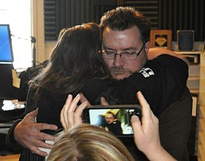 Brian and Todd Hug after 28 Hours has ended