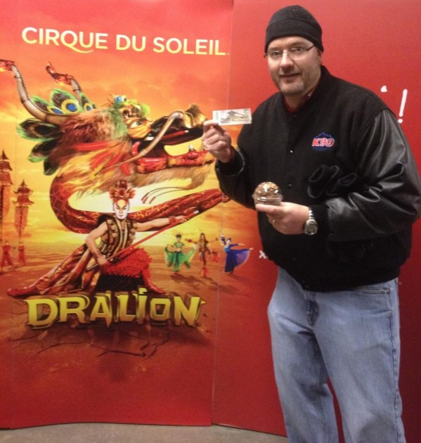Todd at Cirque du Soleil