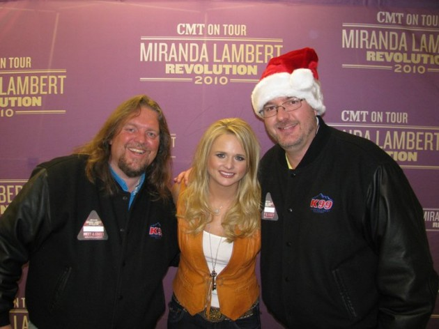 Brian and Todd with Miranda Lambert at Bud Center