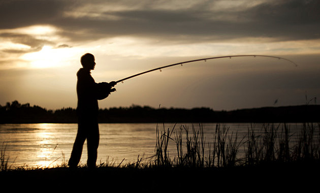 The fisherman at sunset