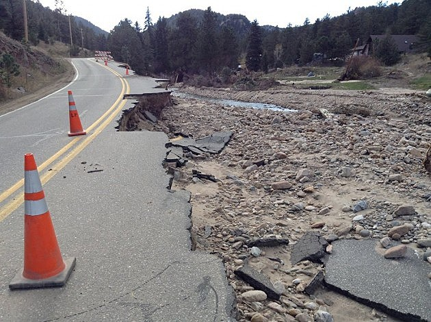 Washed Out Road in Glen Haven