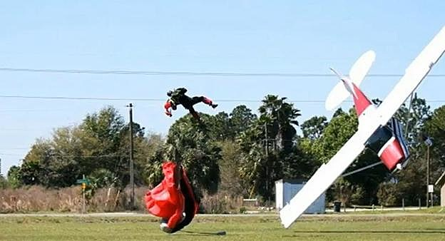 Terrifying Moment A Skydiver Was Hit By 87 Year Old Pilot's Plane