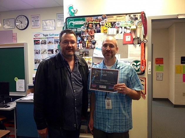 Teacher Tuesday Winner Todd Genson Wellington Middle School