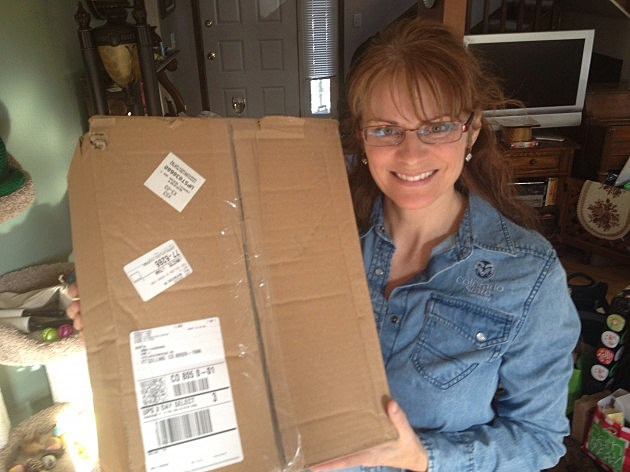 Jenny won a box of stuff from Red Heart Yarns