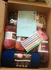 A look inside the box from Red Heart Yarns