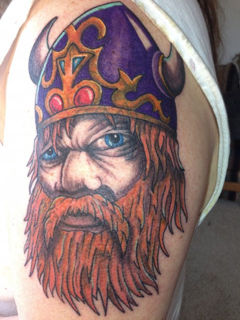 My amazing tattoo cover up see what this viking turned for Did vikings have tattoos