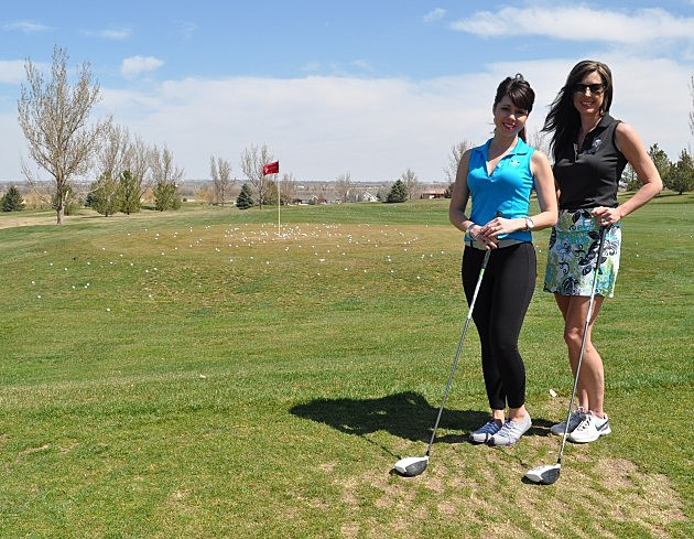 Jennifer Jennings and Amy Hayden with SWING at Ptarmigan Country Club