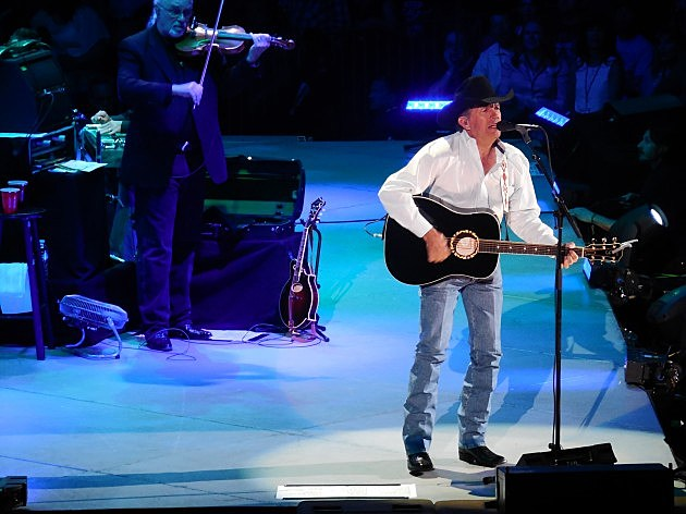 George Strait Cowboy Rides Away Tour 4/5/14 Pepsi Center in Denver