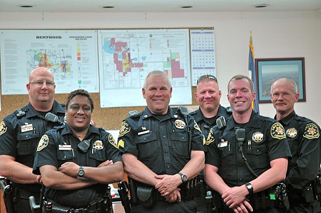 From left to right- Deputy Kevin Kingston, Deputy Kandis Dacus, Sergeant Jim Anderson, Deputy Steve Wicker, SRO Deputy Eric Schultz and Deputy Chris Wenrick.