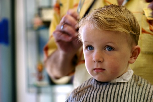 Kid getting haircu