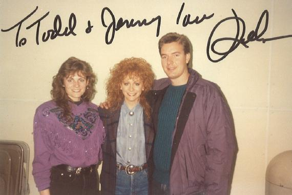 Jenny and Todd Harding with Reba at McNichols Arena in Denver