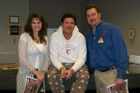 Jenny & Todd backstage with Vince Gill at the UCCC in Greeley