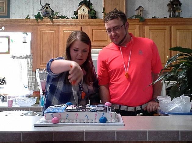 nick and kia cake cut
