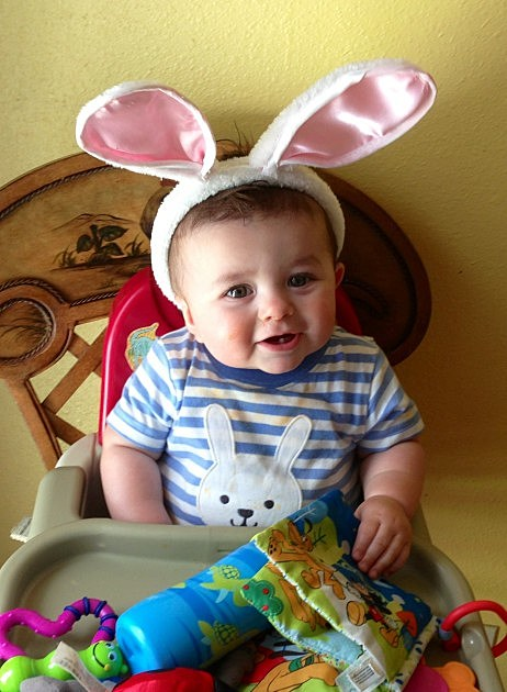 zayden with easter ears