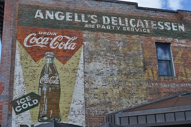 Coca - Cola Sign on side of Coopersmith's in Fort Collins